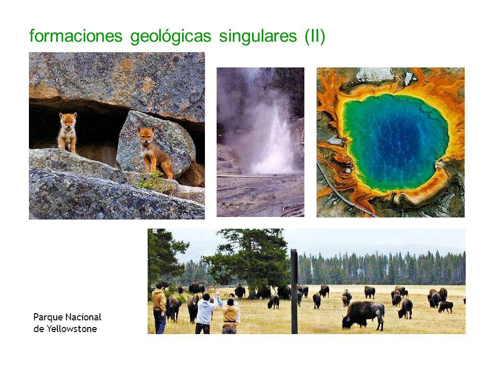 formaciones geológicas singulares (II) Parque Nacional de Yellowstone