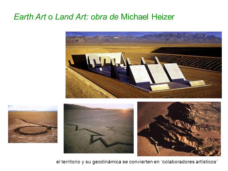 Earth Art o Land Art: obra de Michael Heizer Nine Nevada Deppresions n 1 Rift, 1968 el territorio y su geodinámica se convierten en colaboradores artí