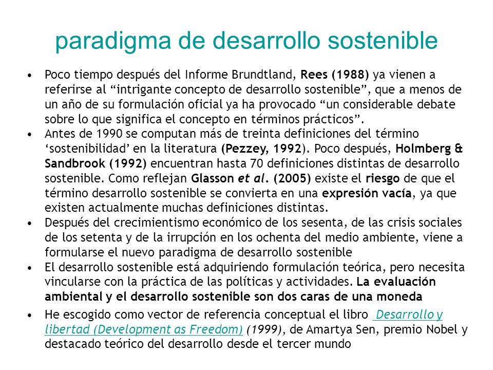 el desarrollo sostenible en operación (III) Relación entre estrategia de desarrollo sostenible, control, evaluación ambiental y sistema de información en ciudad de Ottawa (modificado de Local Agenda 21 Ottawa, in Devuyst, 1999)