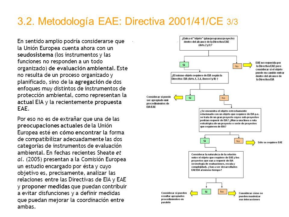 3.2. Metodología EAE: Directiva 2001/41/CE 3/3 En sentido amplio podría considerarse que la Unión Europea cuenta ahora con un seudosistema (los instru