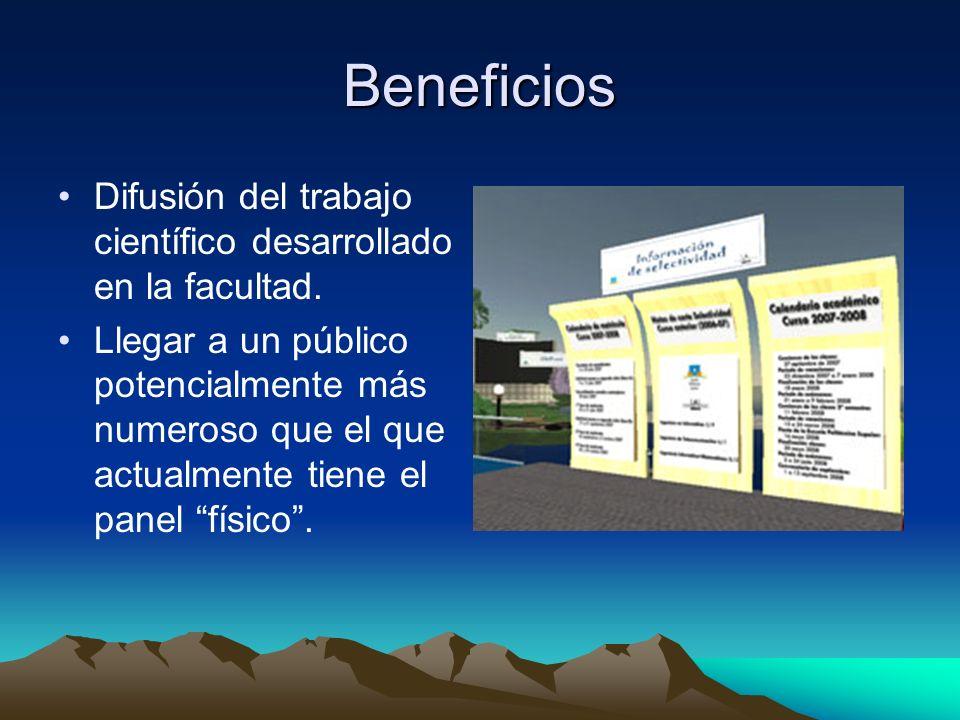 Beneficios Difusión del trabajo científico desarrollado en la facultad.
