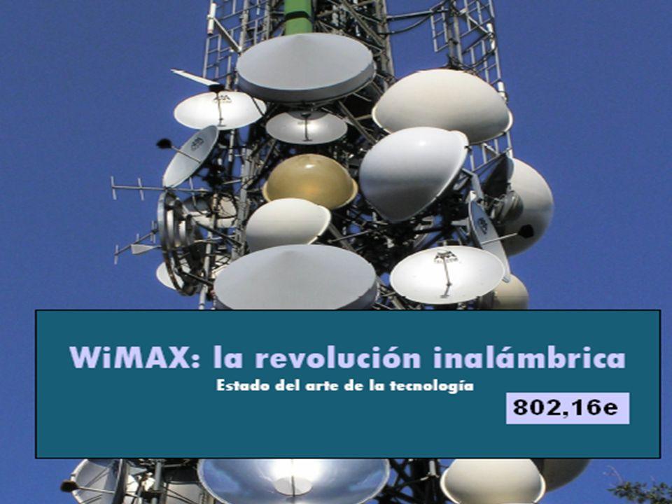 WiMAX WiMAX son las siglas de Worldwide Interoperability for Microwave Access (interoperabilidad mundial para acceso por microondas).