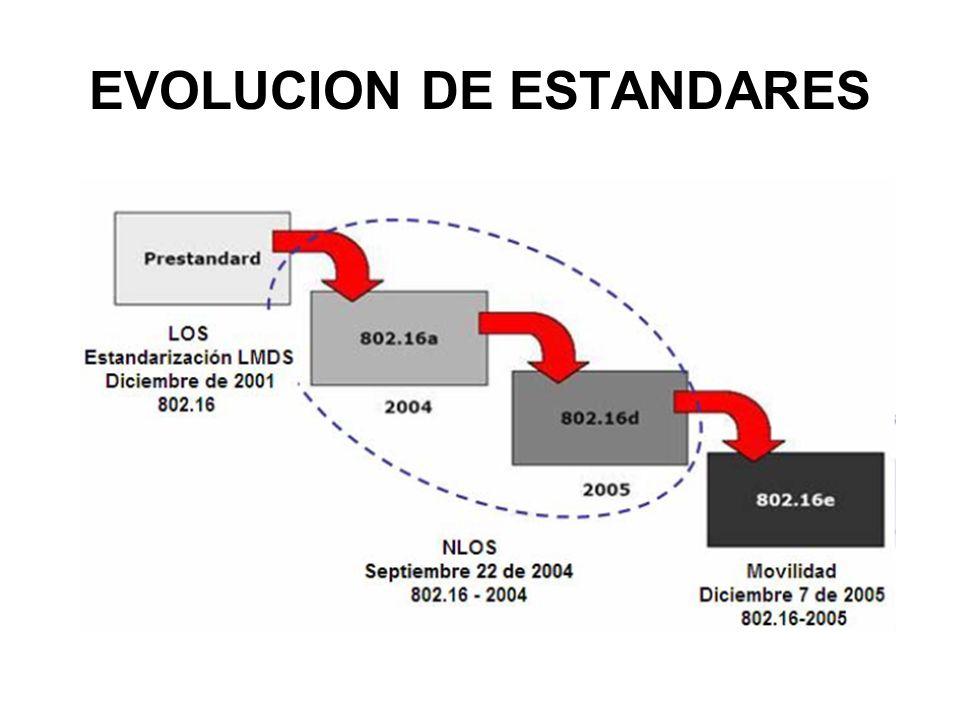 EVOLUCION DE ESTANDARES