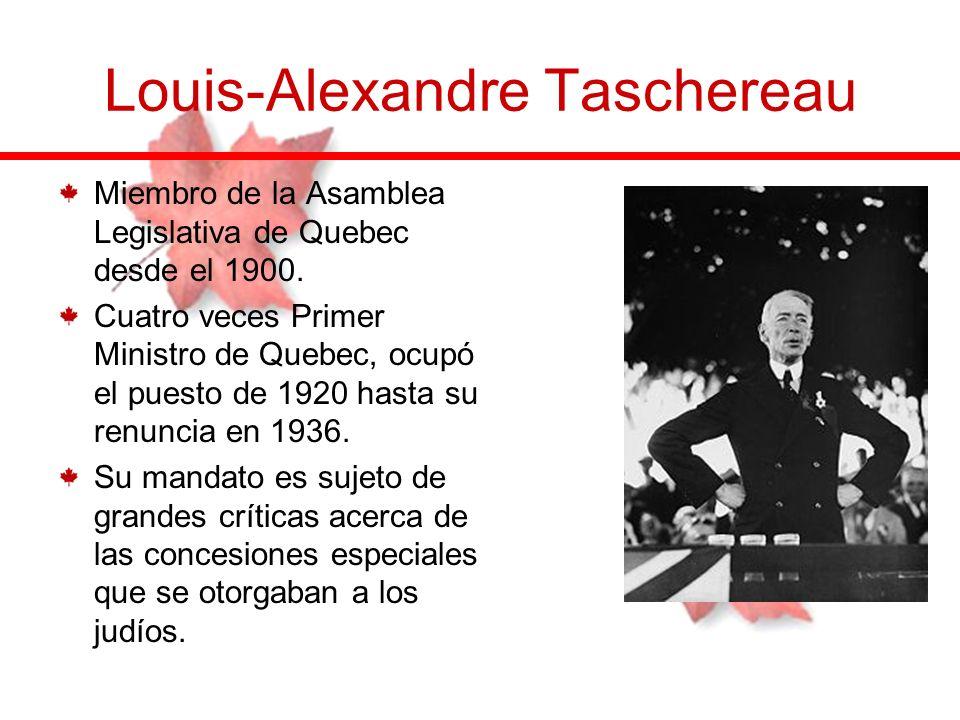 Miembro de la Asamblea Legislativa de Quebec desde el 1900. Cuatro veces Primer Ministro de Quebec, ocupó el puesto de 1920 hasta su renuncia en 1936.