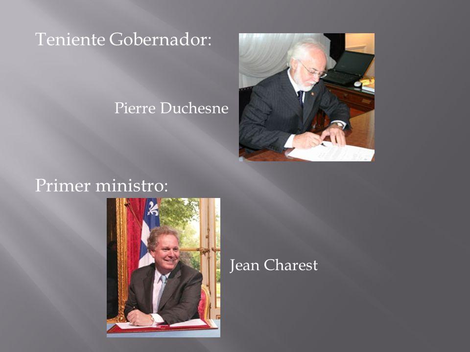 Teniente Gobernador: Pierre Duchesne Primer ministro: Jean Charest