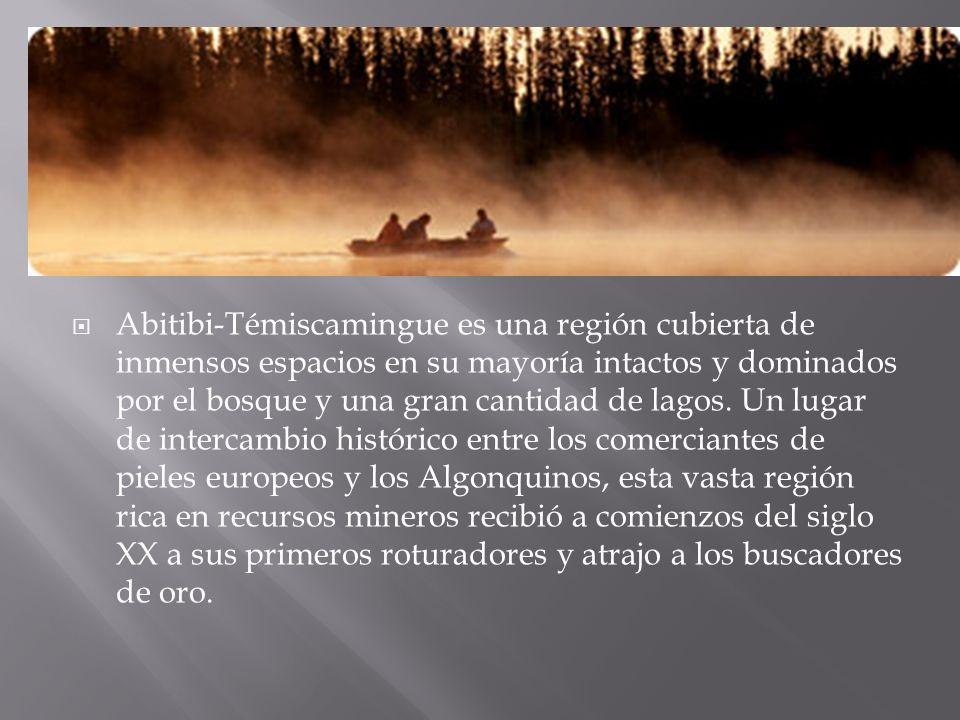Abitibi-Témiscamingue es una región cubierta de inmensos espacios en su mayoría intactos y dominados por el bosque y una gran cantidad de lagos. Un lu