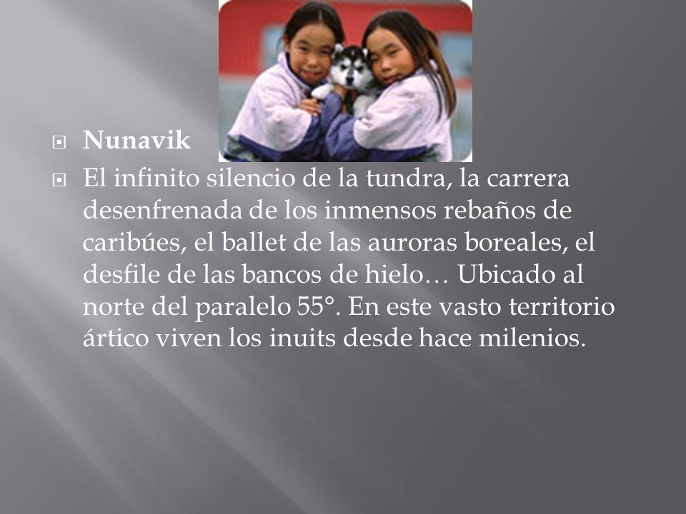 Nunavik El infinito silencio de la tundra, la carrera desenfrenada de los inmensos rebaños de caribúes, el ballet de las auroras boreales, el desfile