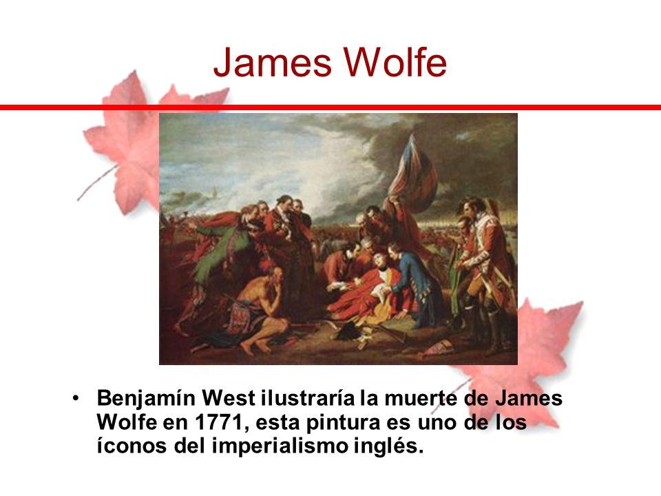 Benjamín West ilustraría la muerte de James Wolfe en 1771, esta pintura es uno de los íconos del imperialismo inglés. James Wolfe