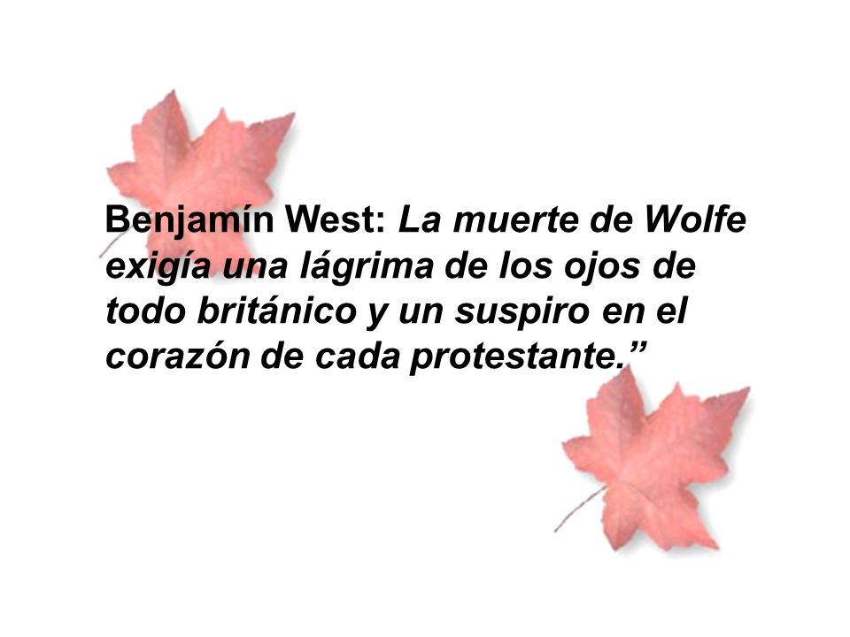 Tras la muerte de Wolfe, Amherst asume el mando de las fuerzas británicas y es él quien toma Montreal en 1760.