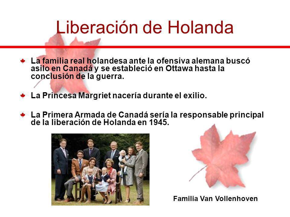 La familia real holandesa ante la ofensiva alemana buscó asilo en Canadá y se estableció en Ottawa hasta la conclusión de la guerra. La Princesa Margr