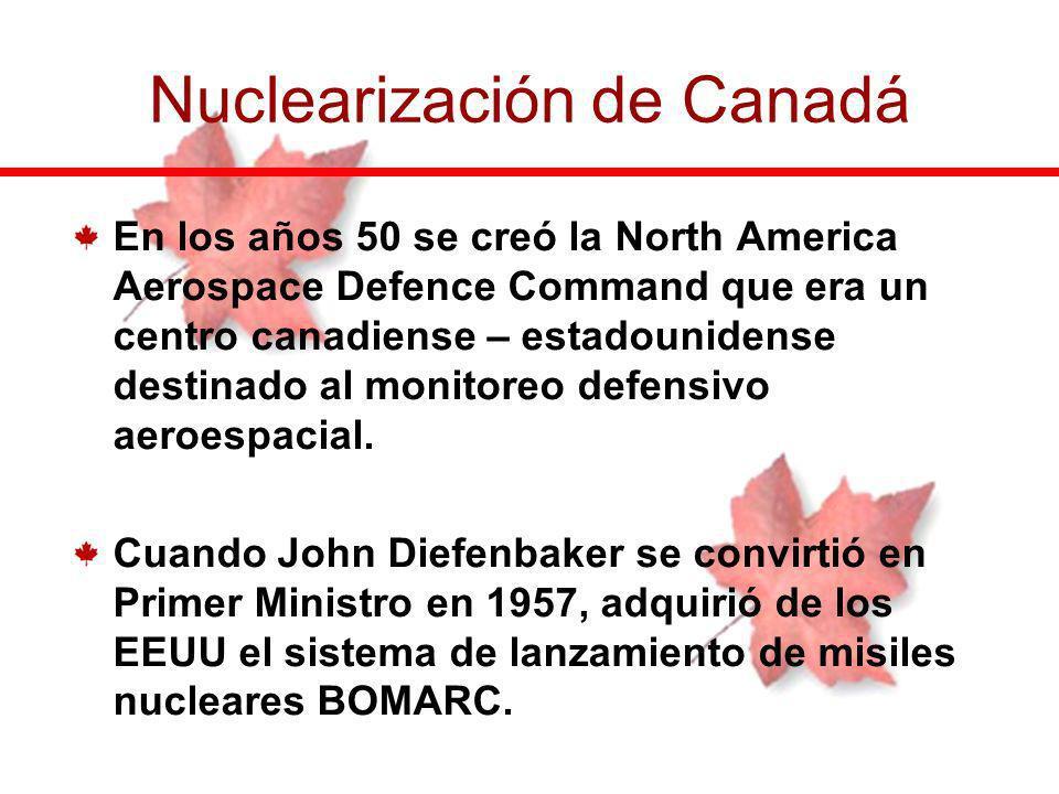 En los años 50 se creó la North America Aerospace Defence Command que era un centro canadiense – estadounidense destinado al monitoreo defensivo aeroe