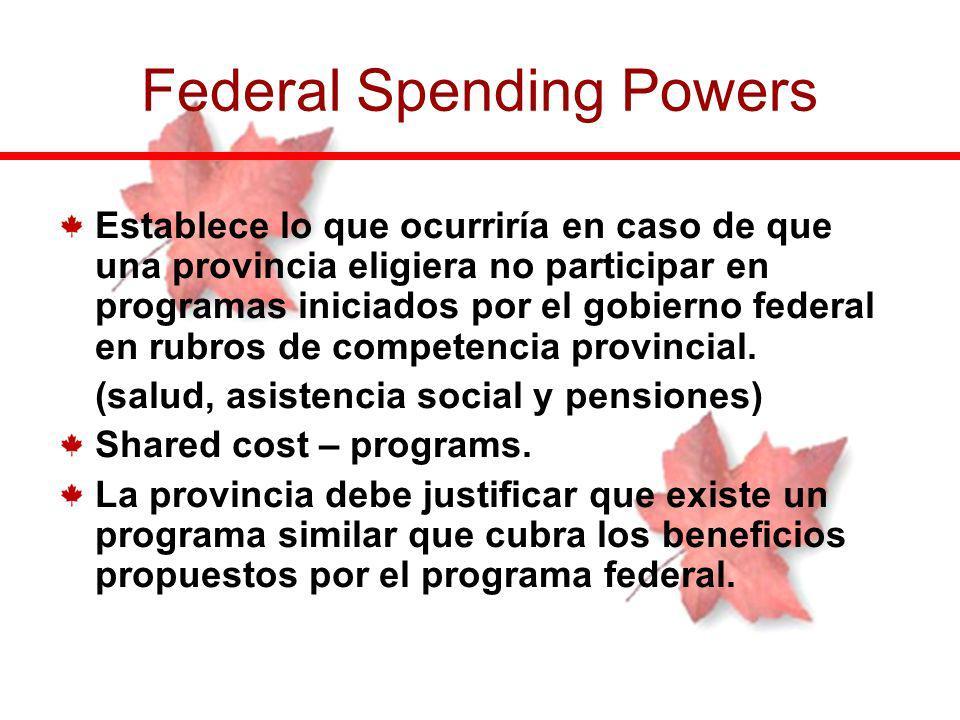 Establece lo que ocurriría en caso de que una provincia eligiera no participar en programas iniciados por el gobierno federal en rubros de competencia