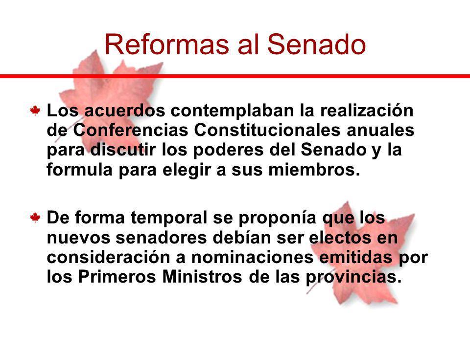 Los acuerdos contemplaban la realización de Conferencias Constitucionales anuales para discutir los poderes del Senado y la formula para elegir a sus