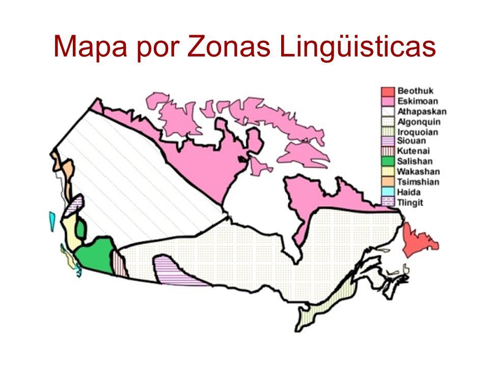 Mapa por Zonas Lingüisticas
