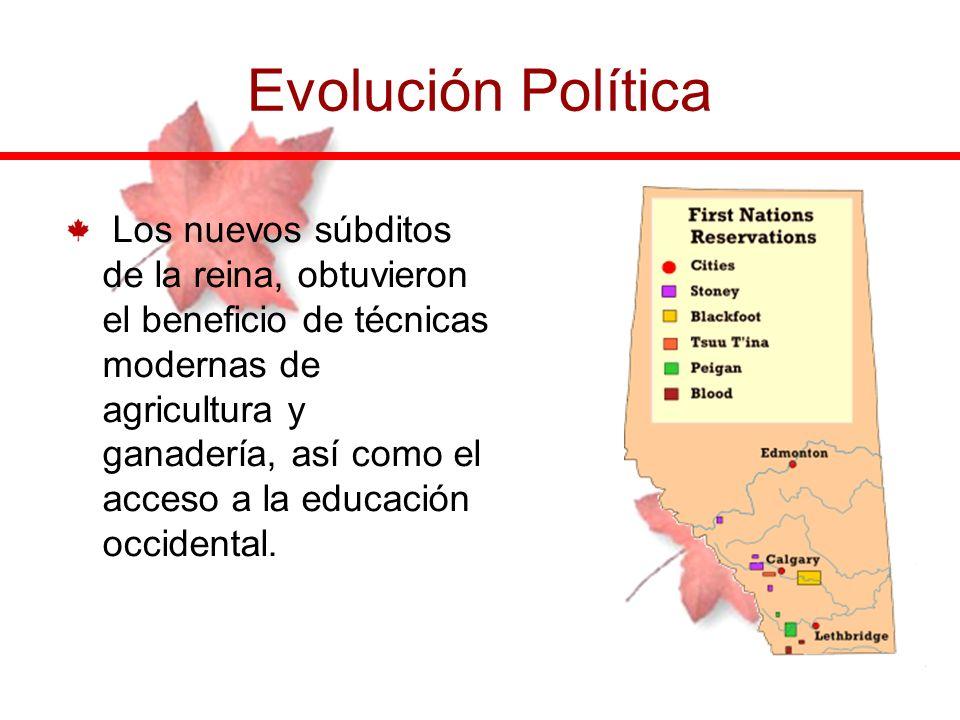 Evolución Política Los nuevos súbditos de la reina, obtuvieron el beneficio de técnicas modernas de agricultura y ganadería, así como el acceso a la e