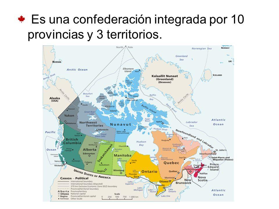 Es una confederación integrada por 10 provincias y 3 territorios.