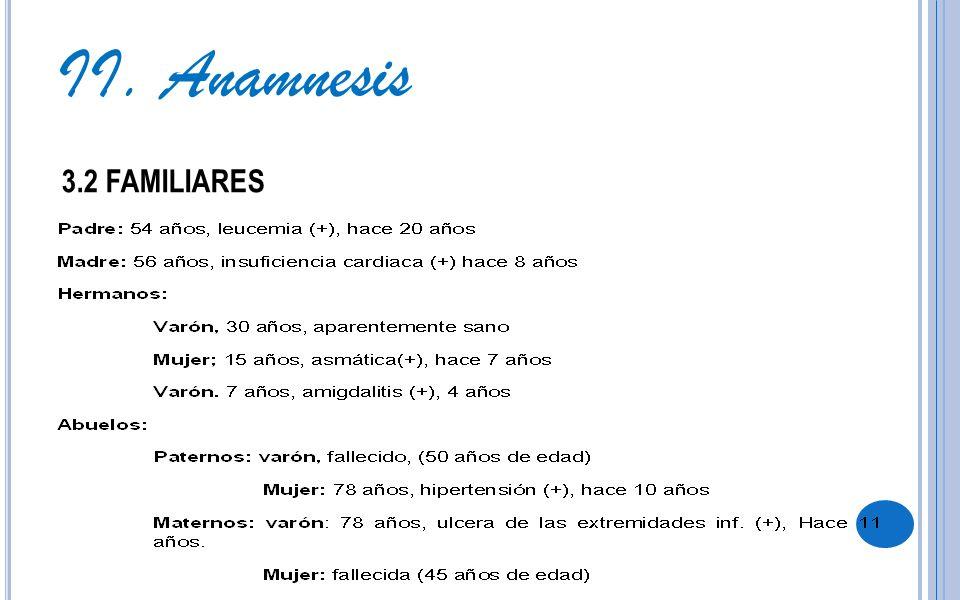 3.2 FAMILIARES II. Anamnesis