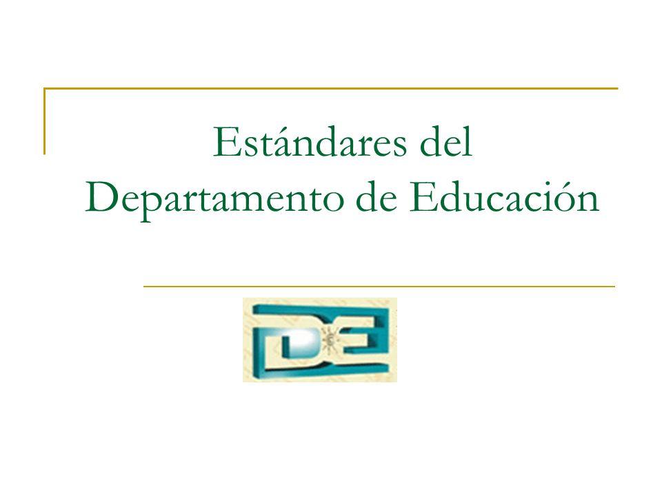 Estándares del Departamento de Educación