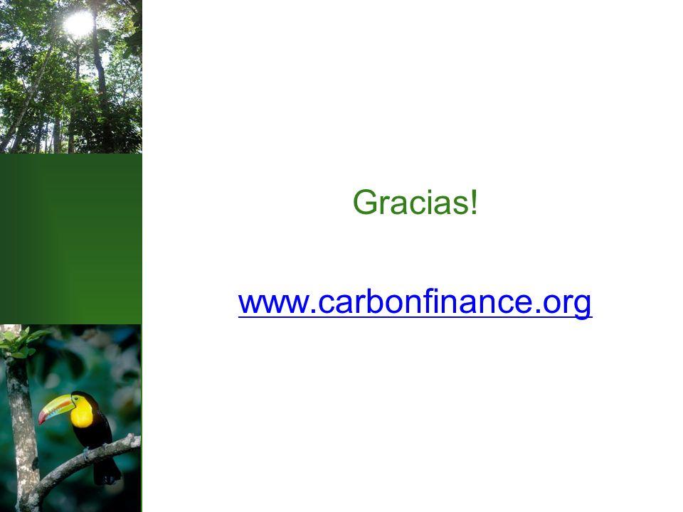 Gracias! www.carbonfinance.org