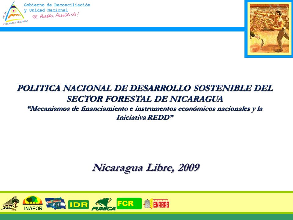1 POLITICA NACIONAL DE DESARROLLO SOSTENIBLE DEL SECTOR FORESTAL DE NICARAGUA Mecanismos de financiamiento e instrumentos económicos nacionales y la I