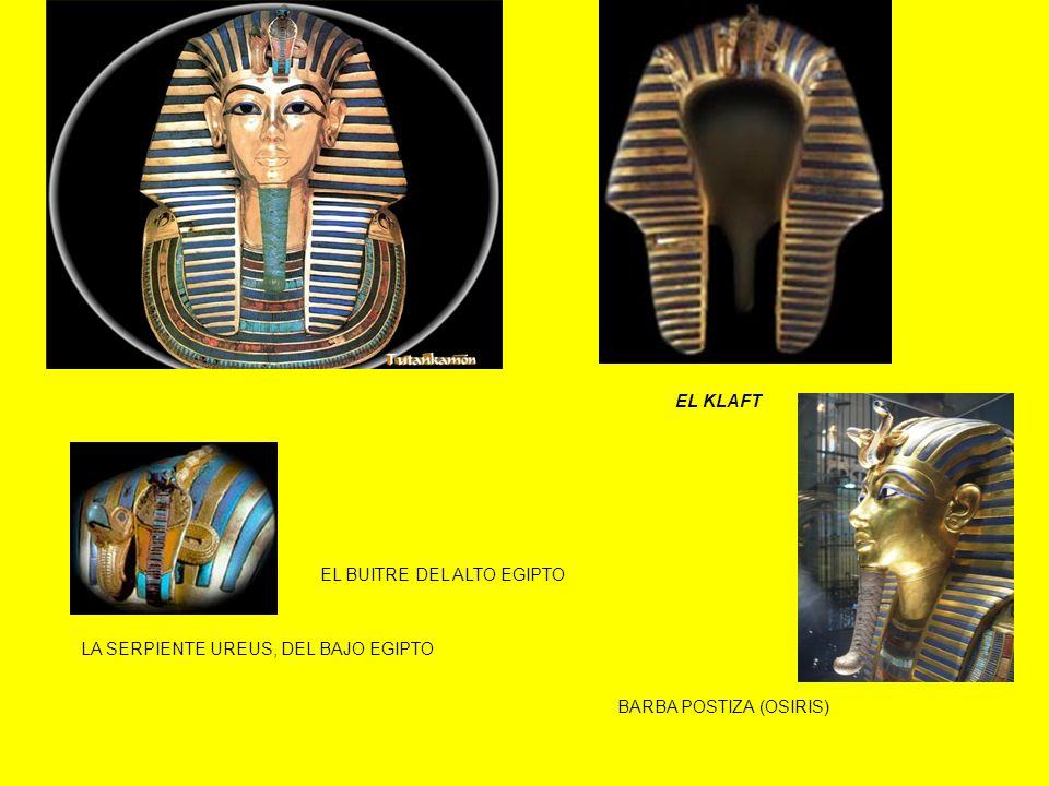 EL KLAFT BARBA POSTIZA (OSIRIS) EL BUITRE DEL ALTO EGIPTO LA SERPIENTE UREUS, DEL BAJO EGIPTO