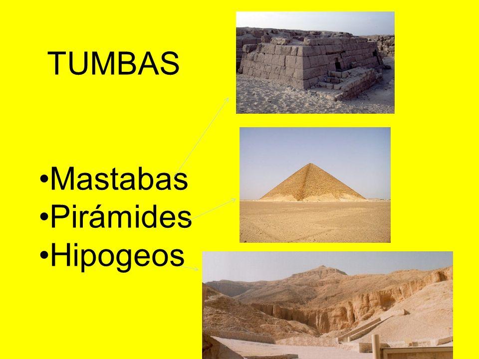 TUMBAS Mastabas Pirámides Hipogeos