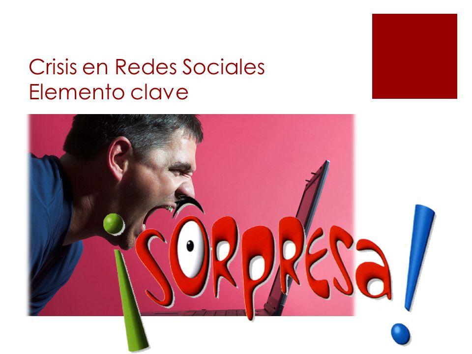 Crisis en Redes Sociales Elemento clave
