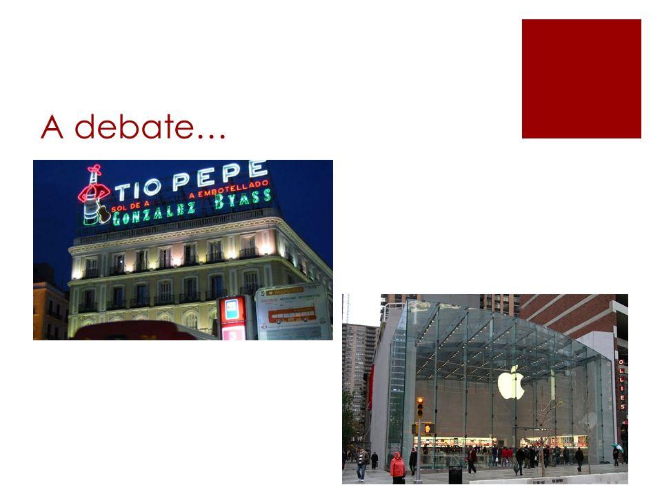 A debate…