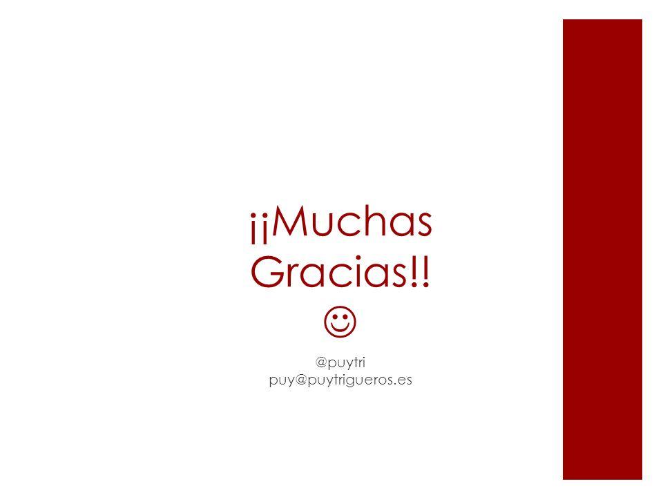 ¡¡Muchas Gracias!! @puytri puy@puytrigueros.es