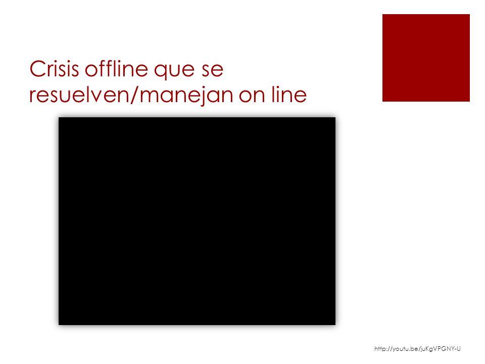 Crisis offline que se resuelven/manejan on line http://youtu.be/juKgVPGNY-U