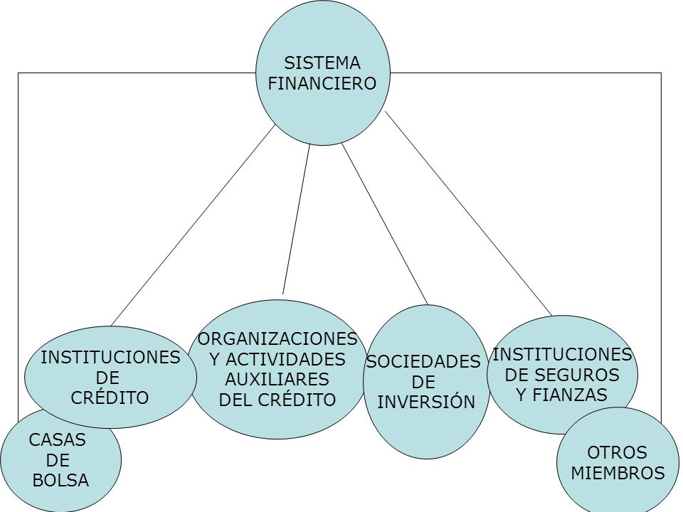 SISTEMA FINANCIERO CASAS DE BOLSA ORGANIZACIONES Y ACTIVIDADES AUXILIARES DEL CRÉDITO INSTITUCIONES DE CRÉDITO SOCIEDADES DE INVERSIÓN INSTITUCIONES D
