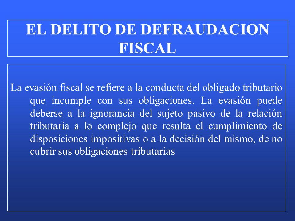 La evasión fiscal se refiere a la conducta del obligado tributario que incumple con sus obligaciones. La evasión puede deberse a la ignorancia del suj