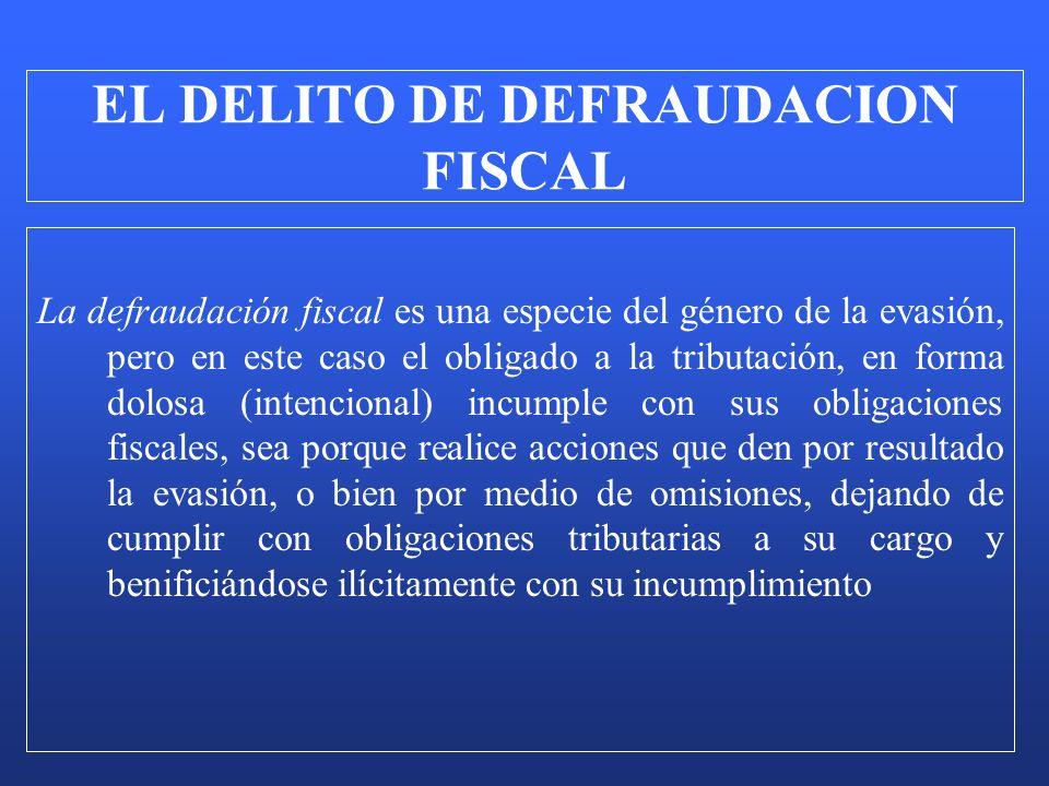 La defraudación fiscal es una especie del género de la evasión, pero en este caso el obligado a la tributación, en forma dolosa (intencional) incumple