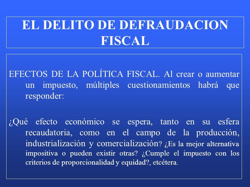 EFECTOS DE LA POLÍTICA FISCAL. Al crear o aumentar un impuesto, múltiples cuestionamientos habrá que responder: ¿Qué efecto económico se espera, tanto