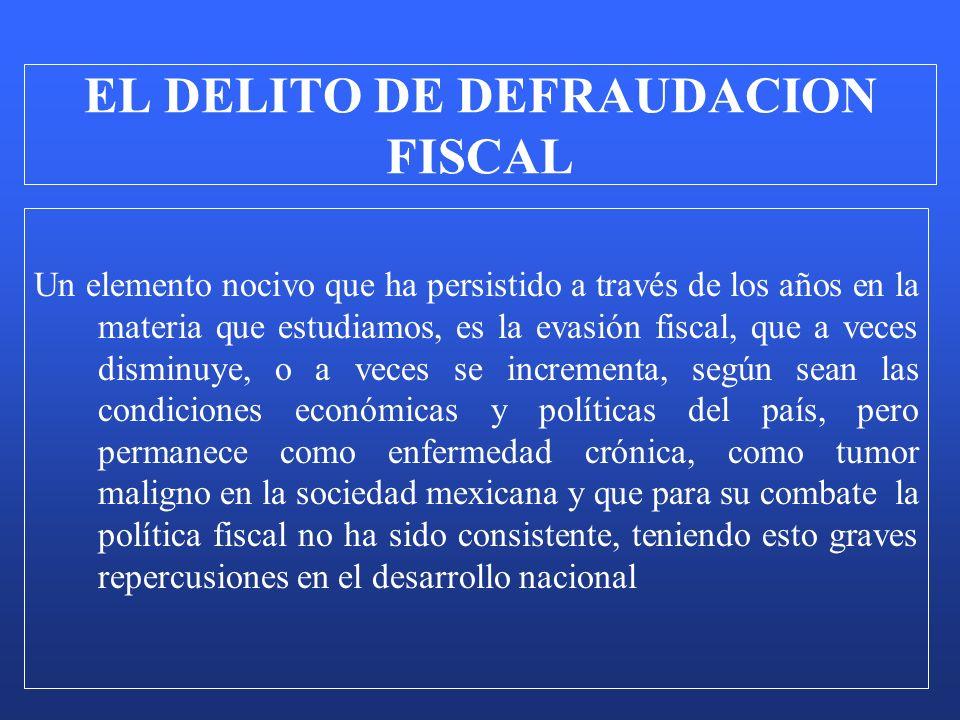 Un elemento nocivo que ha persistido a través de los años en la materia que estudiamos, es la evasión fiscal, que a veces disminuye, o a veces se incr