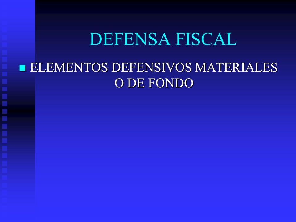 ELEMENTOS DEFENSIVOS MATERIALES O DE FONDO ELEMENTOS DEFENSIVOS MATERIALES O DE FONDO