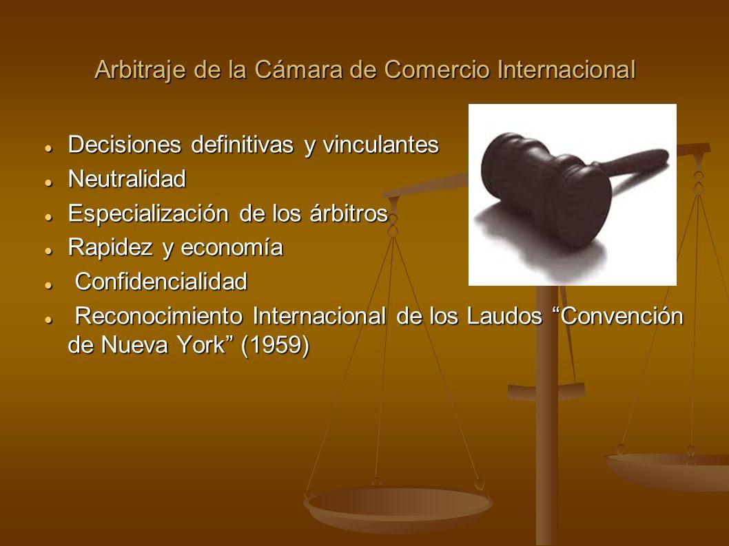 Arbitraje de la Cámara de Comercio Internacional Decisiones definitivas y vinculantes Decisiones definitivas y vinculantes Neutralidad Neutralidad Esp
