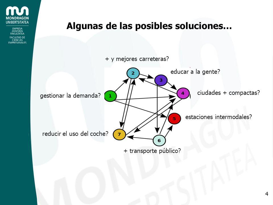 4 Algunas de las posibles soluciones… + y mejores carreteras.