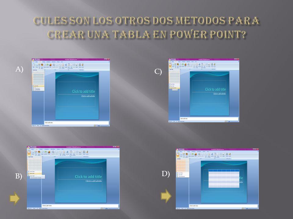 A) Haciendo doble clic sobre el objeto hoja de calculo para abrirlo en excel Darle clic en modificar la goja de calculo Darle clic en insertar Darle clic en el boton de office B) C) D)