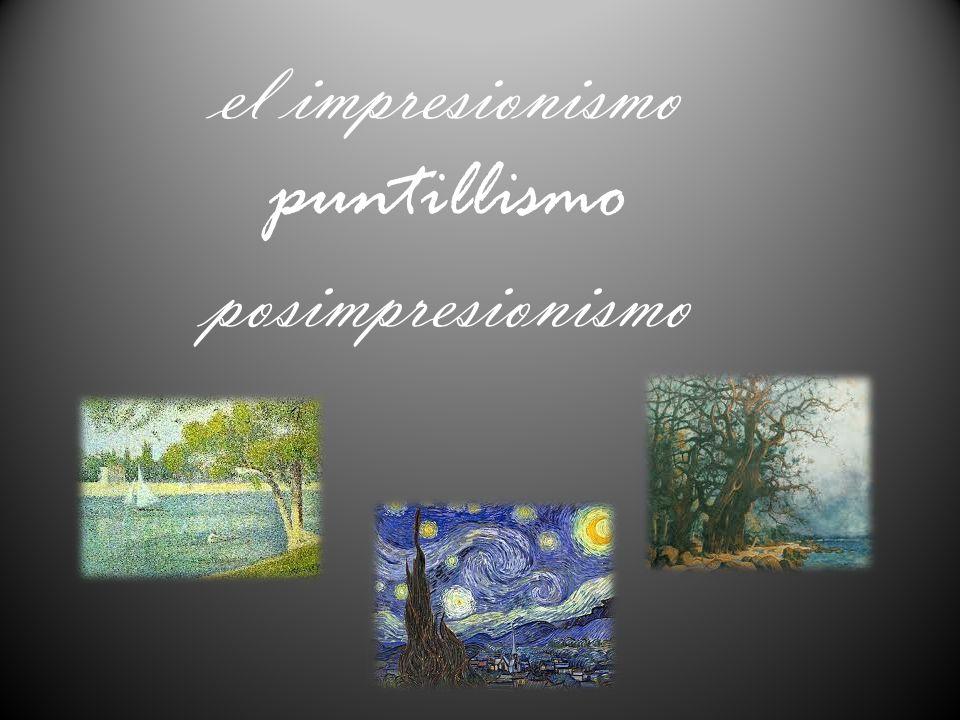 IMPRESIONISMO : El Impresionismo es un movimiento pictórico francés, que surge a finales del siglo XIX.
