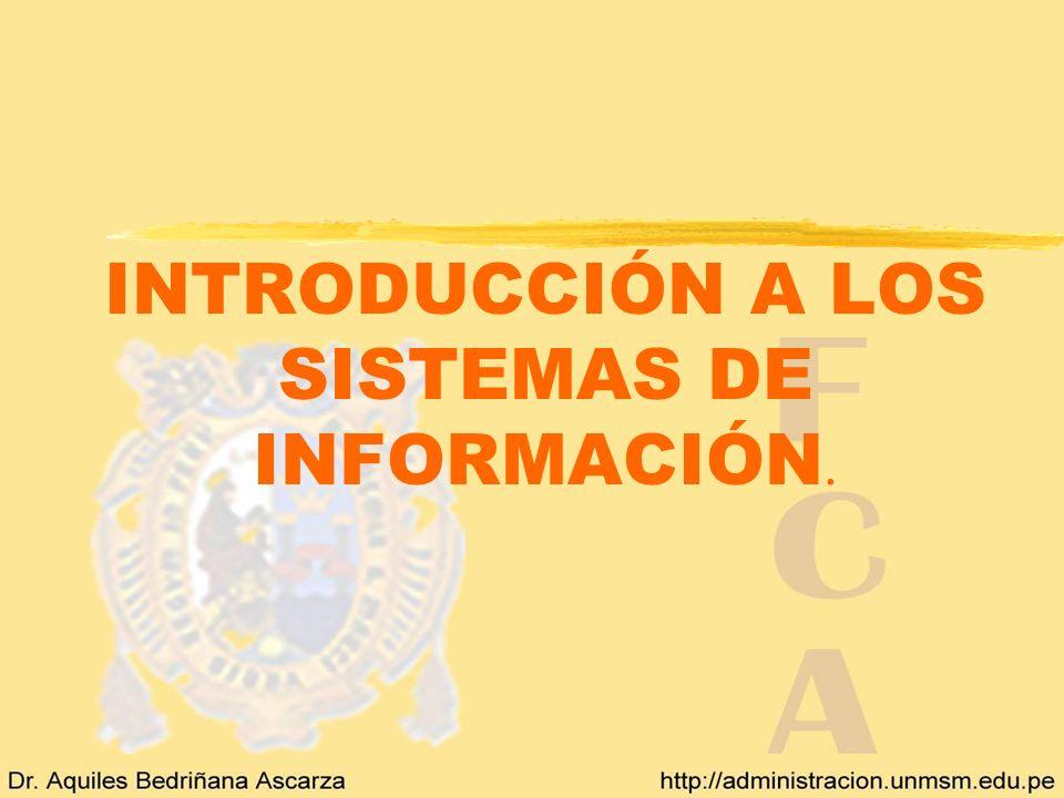 INTRODUCCIÓN A LOS SISTEMAS DE INFORMACIÓN.