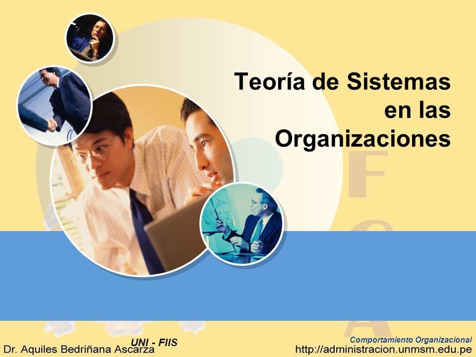 UNI - FIIS Comportamiento Organizacional Teoría de Sistemas en las Organizaciones