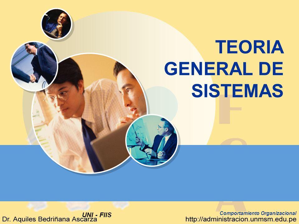 UNI - FIIS Comportamiento Organizacional TEORIA GENERAL DE SISTEMAS