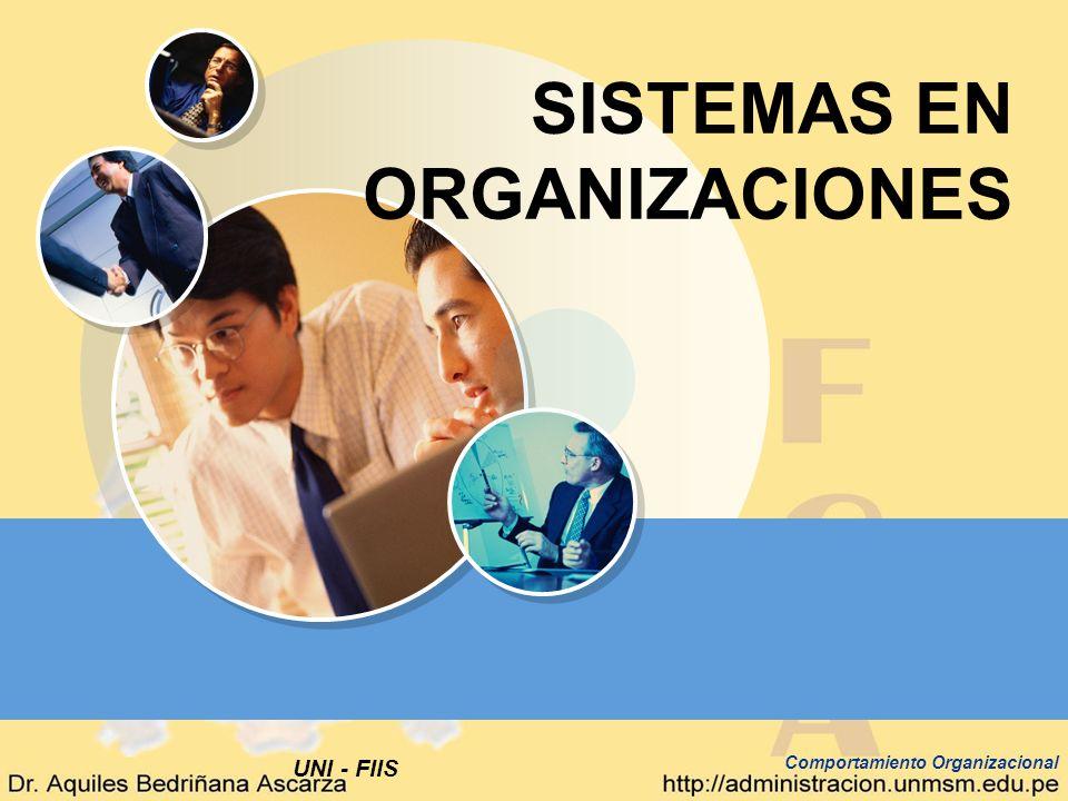 UNI - FIIS Comportamiento Organizacional SISTEMAS EN ORGANIZACIONES