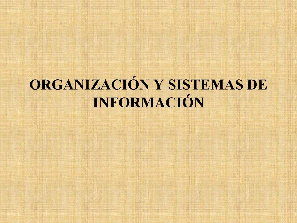 ORGANIZACIÓN Y SISTEMAS DE INFORMACIÓN