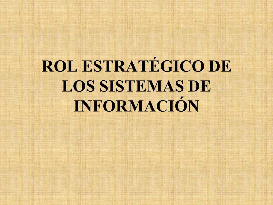 ROL ESTRATÉGICO DE LOS SISTEMAS DE INFORMACIÓN