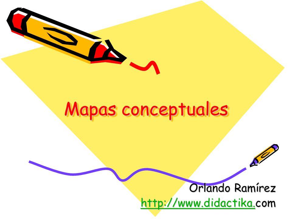 Mapas conceptuales Orlando Ramírez http://www.didactika.http://www.didactika.com http://www.didactika.