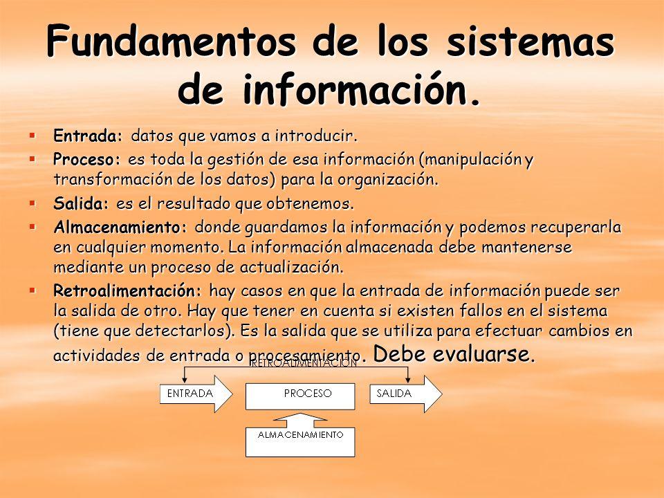 Componentes de los sistemas de información.