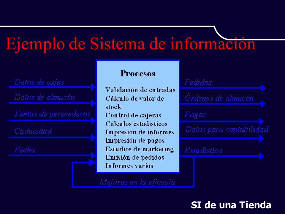 Ejemplo de Sistema de información SI de una Tienda