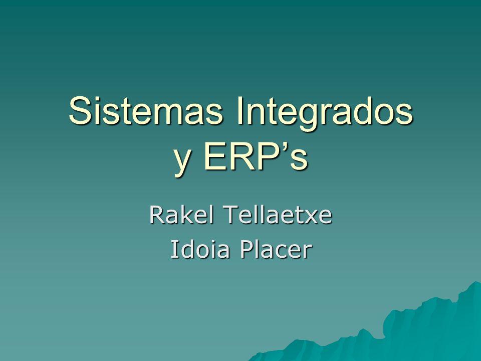 Introduccion Estructura de un ERP Criterios para la eleccion de un ERP Implantacion ASP Principales fabricantes de ERPs SAP AG Clientes de SAP Conclusiones VÍdeo Ejemplo iECS